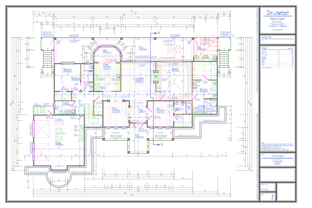 Custom homes house plans don linsenbach for Custom blueprints